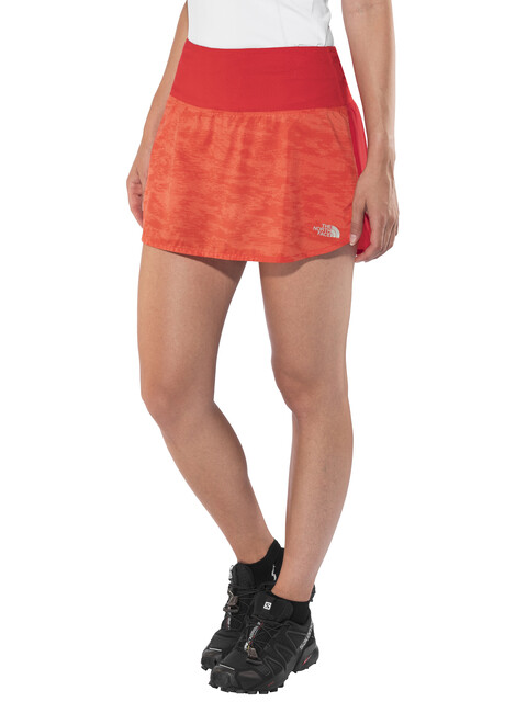 The North Face Flight Better Than Naked Skort Women Fiery Coral Digicamo Print